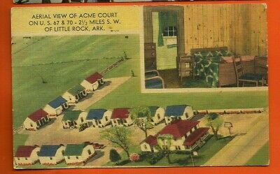 Little Rock, Ark/ aerial view of Acme Court/ bedroom/ little cottages/linen pc