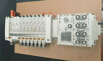 Smc Ex600-Sen1 W/ Ex600-Dxpd W/ X8 Vqc220Nr-5C1 Valves W/ X2 Vvq2000-10A-1 (R5S6