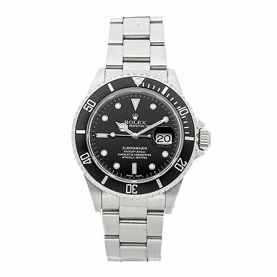 Rolex Submariner Auto 40mm Steel Mens Oyster Bracelet Watch Date 16610