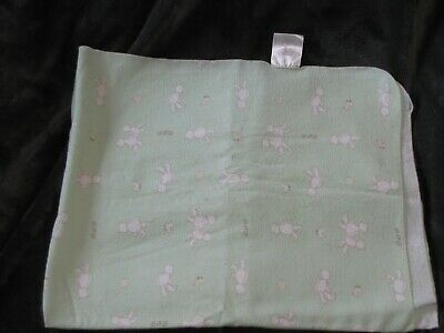 Baby Martha Stewart Teddy Bear Duck Receiving Blanket Cotton Flannel Swaddle