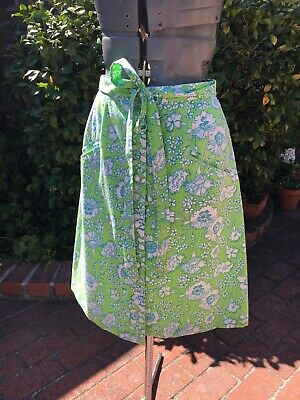 Vintage 1960's/70's Lilly Pulitzer Blue & Green Floral Skirt XS /Small Nice