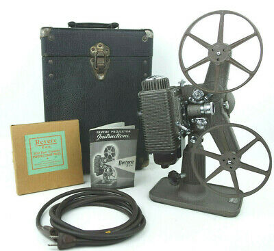 Revere 85 Vintage 8mm Film Movie Projector With 2 Reels And Hard Case  Working