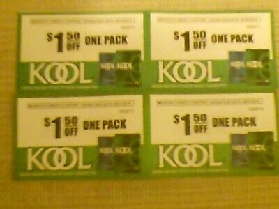 4 Kool Coupons, 4 $1.50 Off One Pack Any Style, Exp. 07/31-10/31/2019