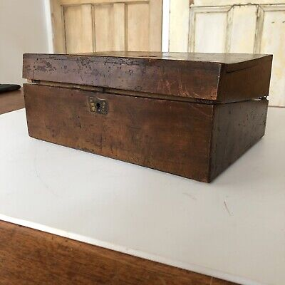 Vintage Mahogany Wooden Writing Slope Box