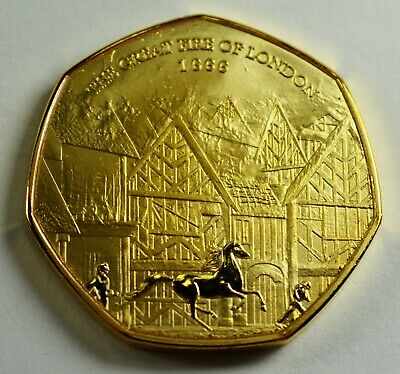 THE GREAT FIRE OF LONDON 1666 24ct Gold Commemorative. Albums/Collectors NEW!