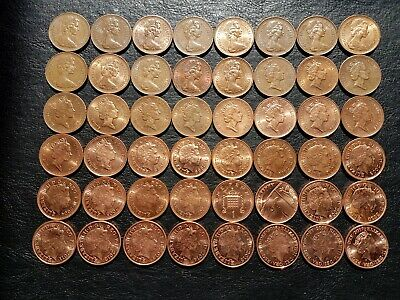 Collection 1p.UK Coins of 1971 to 2017 years.Excludes 1972 (not circulated).