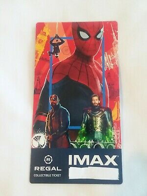 SPIDER-MAN FAR FROM HOME MARVEL Collectible Regal IMAX Ticket Best SPIDERMAN Tix
