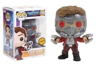 Funko - Guardians of the Galaxy Star-Lord Pop! LIMITED CHASE EDITION #198