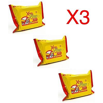 Kids Mosquito & Insect Repellent Wipes DEET FREE Long Lasting 75 x Pieces