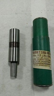 "New Jacobs A4333 1"" Straight Shank Arbor x No. 33 Taper Chuck 33JT Lathe Mill"