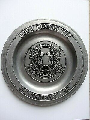 Leyton Orient Football Club Centenary Plate 1881 - 1981 Metal 100 Years