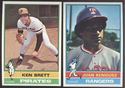 1976 Topps Baseball - You Pick Numbers #401 - #600 - Sharp - Nmmt