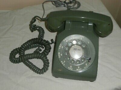 Vintage Retro Western Electric Green Rotary Dial Telephone  Working 1967