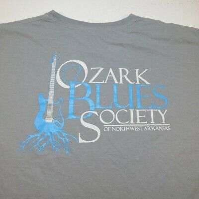 OZARK BLUES SOCIETY OF ARKANSAS Comfort Colors TEE T SHIRT Sz Mens XL guitar