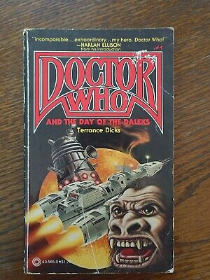 Doctor Who and The Day of The DaleksTerrance Dicks Vintage paperback 1979