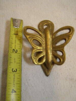 Vintage Brass Alloy Wall Mount Butterfly Spring Clip / Paper Holder