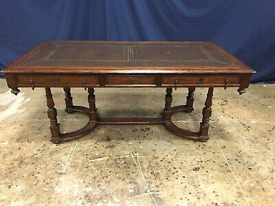 Maitland-Smith Mahogany Writing Table Library Desk