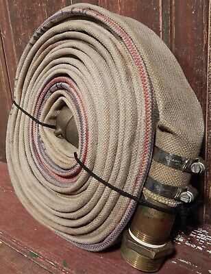 "Vtg Linen Underwriters Laboratories 48' Powhatan 2 1/2"" Wide Unlined Fire Hose"
