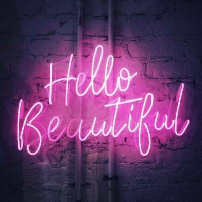 Hello Beautiful Neon Sign Artwork Light Beer Bar Home Bedroom Wall Decor Gifts