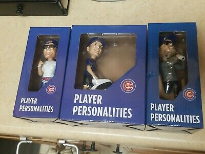 RIZZO & HAMELS & BRYANT Bobblehead Chicago Cubs Wrigley Field SGA LOT OF 3