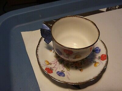 Butterfly Wing Teacup And Saucer - Royal Albert - Springtime