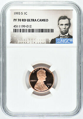 1993 S 1c LINCOLN MEMORIAL CENT NGC PF70 RD ULTRA CAMEO