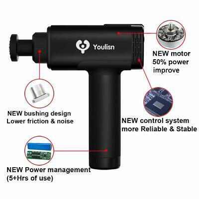 Youlisn  Deep Tissue Muscle Sport Pain Relief Percussion Massage Gun Cordless