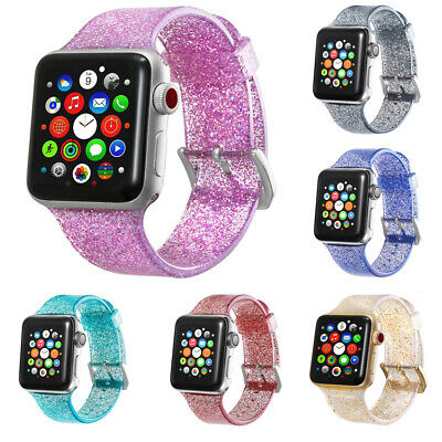 38/42mm Sports Band Strap Glitter Bracelet for Apple Watch iWatch Series 1/2/3/4