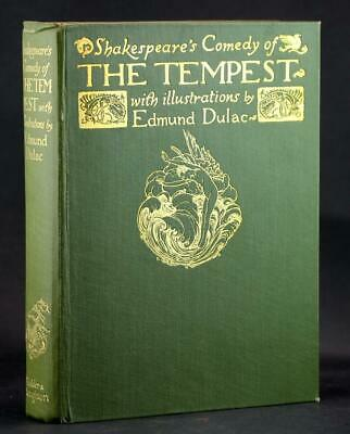 Edmund Dulac 1st Edition 1908 Shakespeare's Comedy The Tempest 40 Color Plates