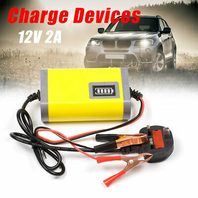 Intelligent 12V Motorcycle Motorbike Battery Charger Automatic Trickle UK Plug