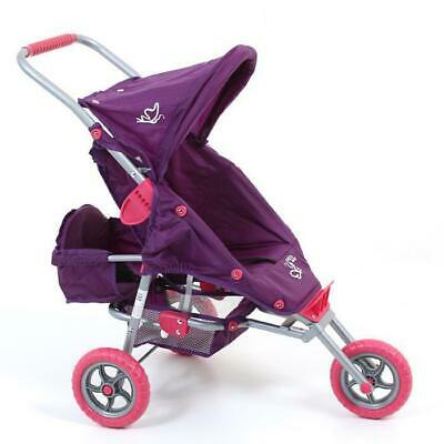 Valco Baby Mini Marathon Doll Stroller with Toddler Seat - Purple