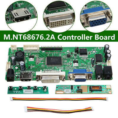 DVI+VGA+Audio DIY LCD LED Screen Controller Board Monitor Kit M.NT68676.2A