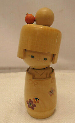 Kokeshi Creative Style Wooden Japanese Doll Handpainted Wood Vintage  #558