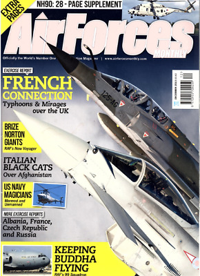 AIRFORCES MONTHLY Magazine. Dec 2013 - TYPHOONS,MIRAGES,NH90,RAF NEW VOYAGER