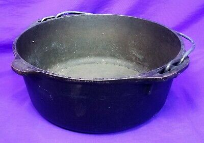 Lodge Cast Iron Dutch Oven Pot, No 8, 800, Made in USA, No Lid