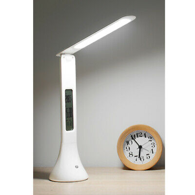 LED Desk Lamp USB Touch Table Desk Light Time and Calendar Display Reading Study