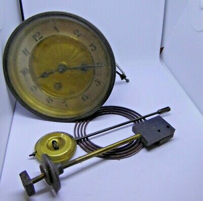 Antique Mechanical Clock Movement Gong and Pendulum