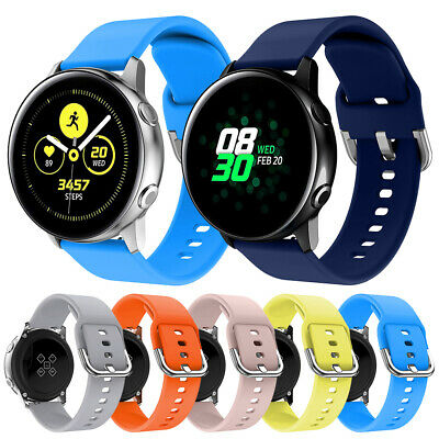 Universal 20mm Soft Silicone Sport Watch Band Quick Replace Replacement Strap LA