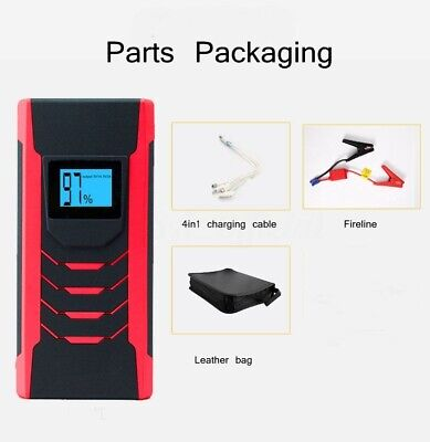 Car Jump Start Starter Battery Charger Power Booster Rescue Pack 89800mAh