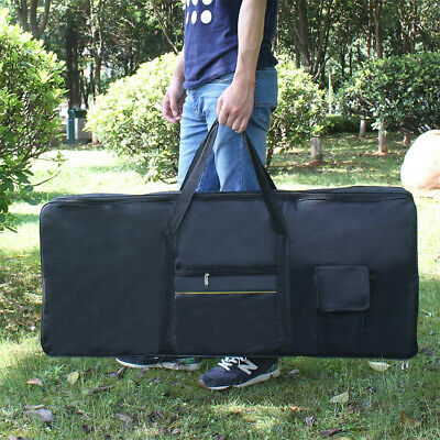 Portable 61 Key Keyboard Electric Piano Padded Case Carry Bag Oxford Cloth Black