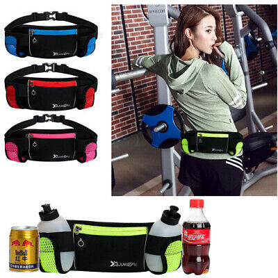 Jogging Cycling Belt Waist Pack Sports Running Water Bottle Holder Bag Gym Pouch
