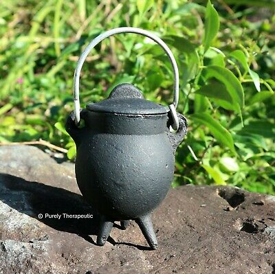 MINI CAULDRON ~ Cast Iron Wicca Witchcraft Metaphysical Magic Ritual Spell Altar