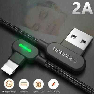 Fast Charging Usb Lightning Charger iPhone Cable L Shape Reversible Unbreakable