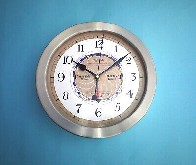 MEGA-QUARTZ  Stainless Steel cased Time and Tide Clock