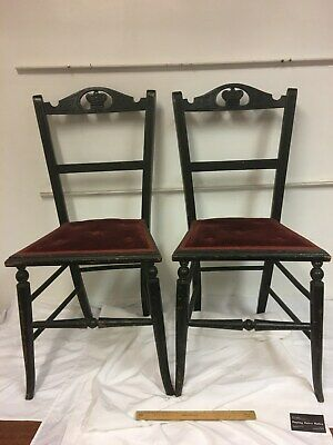 Antique - King Edward VII - Small Coronation Celebration Chairs (pair)