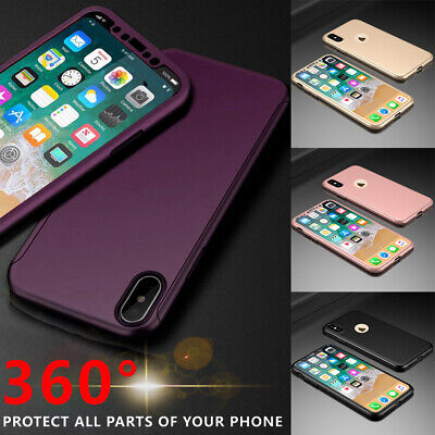 For iPhone XR XS Max 6s 7 8 5s Plus Case Shockproof360 Bumper Hybrid Phone Cover