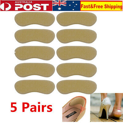5 Pairs Shoes Heel Pads Back Insoles Inserts Sponge Liner Grips Protector Tool