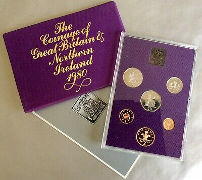 Great Britain & N. Ireland 1980 Proof Year Set - 6 Coins + Royal Mint Medal.