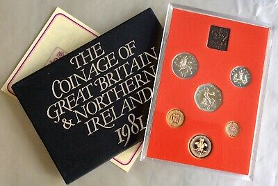 Great Britain & N. Ireland 1981 Proof Year Set - 6 Coins + Royal Mint Medal.