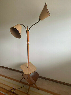 Retro wooden lamp stand & magazine holder – Castle Hill, NSW